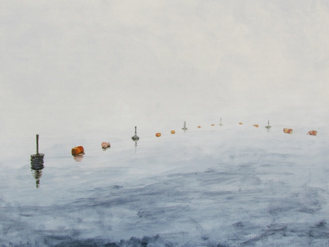 Fog at Coal Harbour 1 Acrylic on Panel 20 inches x 2ft