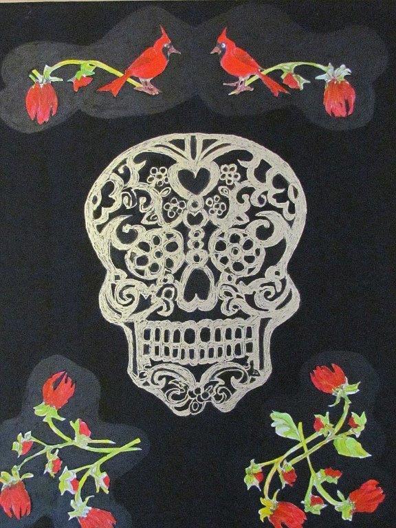 Botanical Skull 1