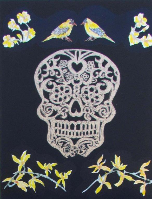 Botanical Skull 2