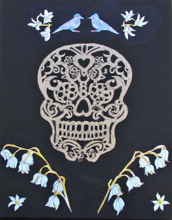 Botanical Skull 3